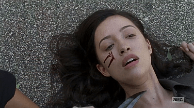 The Walking Dead - Heart Still Beating 7 8 - rosita face cut