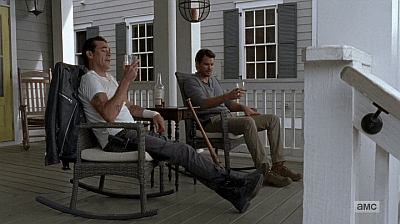 The Walking Dead - Heart Still Beating 7 8 - spencer and negan on porch