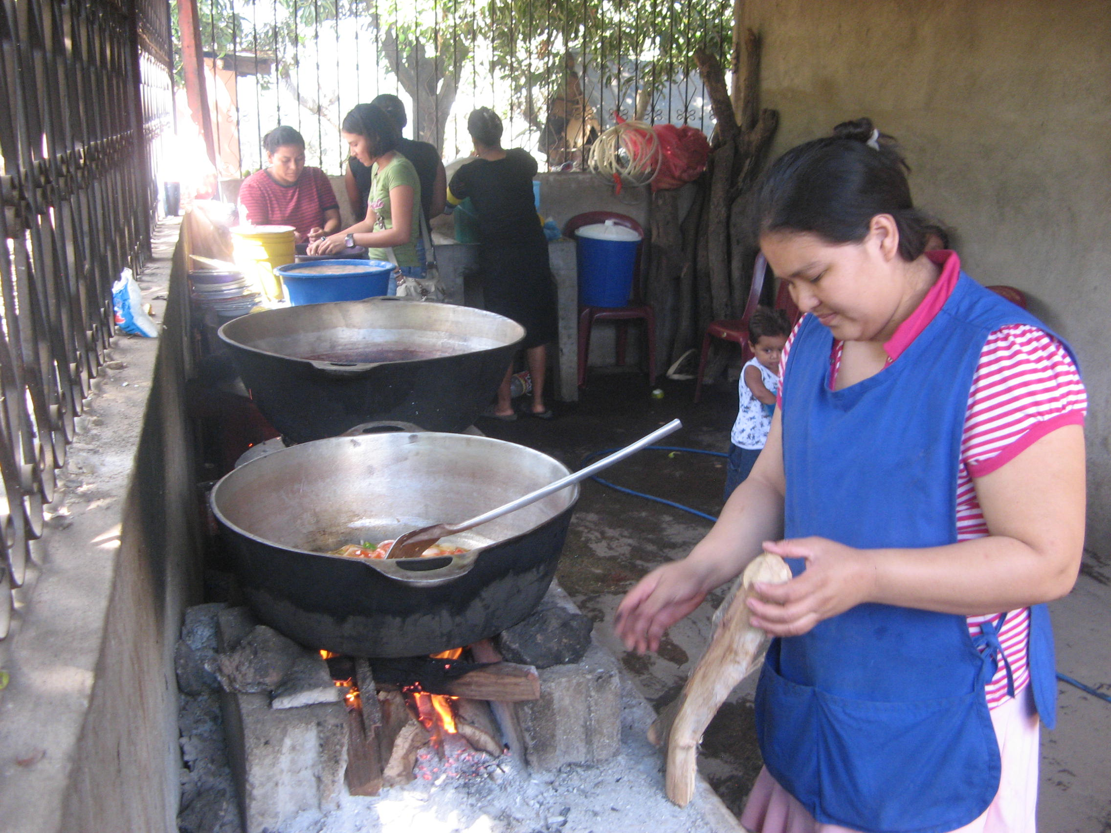 A Mother Preparing the Meal