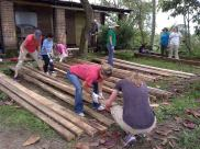 North Point - Family Group - getting ready to repair the stables
