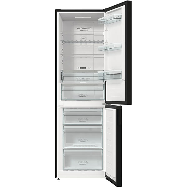 Combina frigorifica GORENJE NRK6192ABK4, No Frost Plus, 300 l, H 185 cm, Clasa E, negru