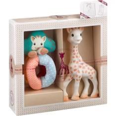 Set cadou VULLI Girafa Sophie + zornaitoare Sense&Soft, 0 luni+ ...