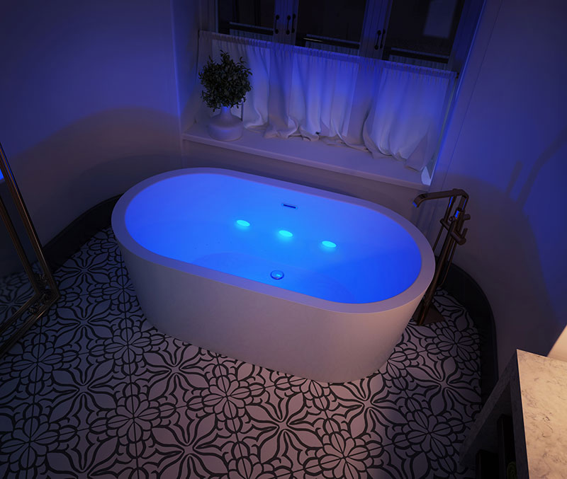 Chromatherapy Color Therapy Tub Unveiled At Sherle