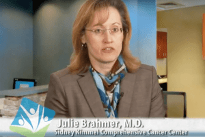 Dr. Julie Brahmer, Sidney Kimmel Comprehensive Cancer Center