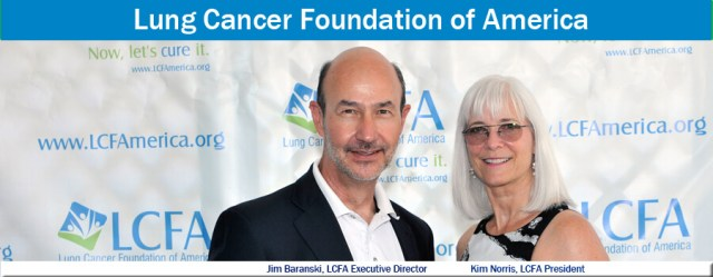 Lung Cancer Foundation of America's Jim Baranski and Kim Norris