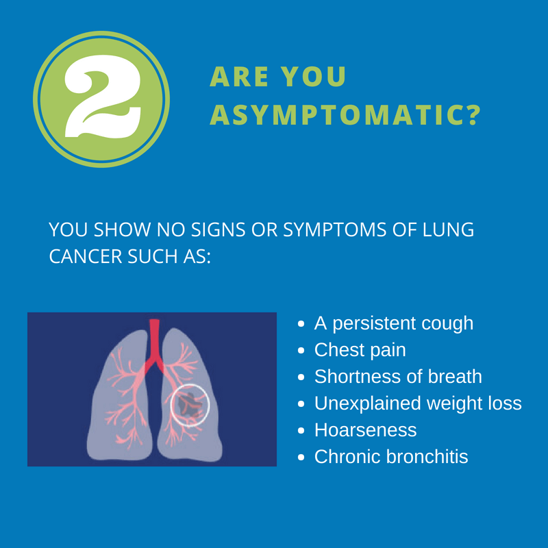 Are you asymptomatic (show no signs or symptoms)?