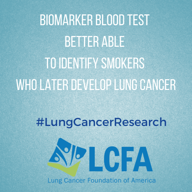 Biomarker blood test better able to identify smokers who later develop lung cancer