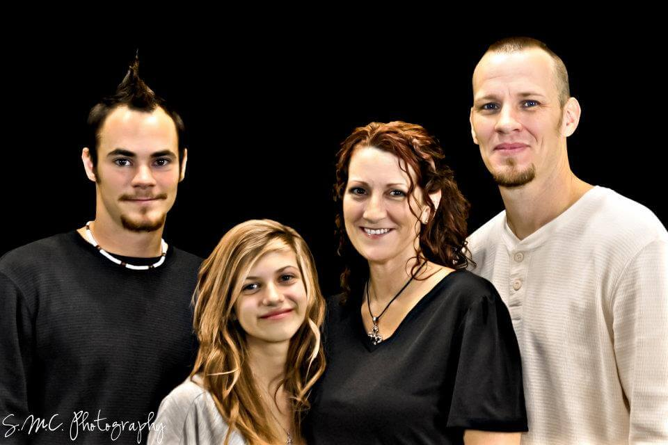 Lysa and her family, 2011