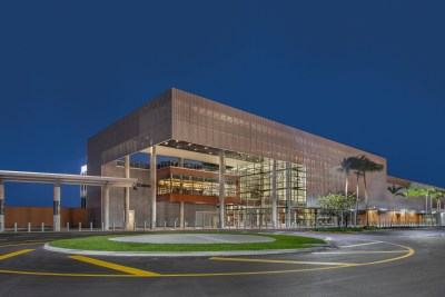 Port Everglades Terminal 25 exterior of building night view