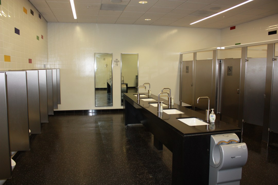 Marlins Stadium Bathroom sinks and toilets