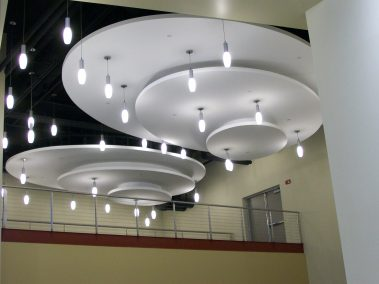 Calvary Christian Academy acoustical ceiling and lights