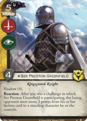 Ser Preston Greenfield