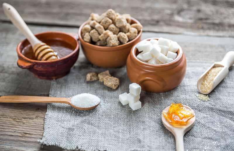 formele si tipurile de zahar, miere de albine, sirop, fructoza, glucoza