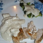 Low Carb Chicken Alfredo & Broccoli! #LCHF