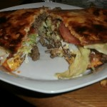 Bacon Cheeseburger Pizza/Grinder! #LCHF #NOMNOM