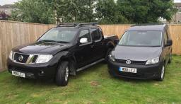 Nissan Navara and VW Caddy
