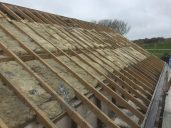 Removal of slate roof