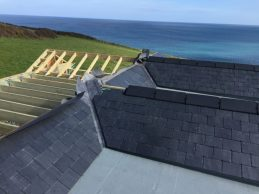 View from the roof of the front and rear elevation tighing in together