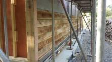 Exterior oak cladding