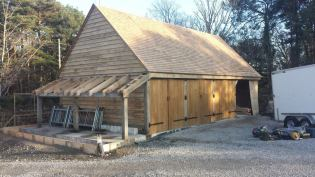 Oak Timber Frame Garage