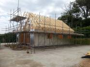2 days into the build and the roof is on