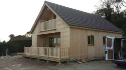Completion of log cabin
