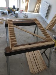 Slatted shelves jig for 12 new build homes