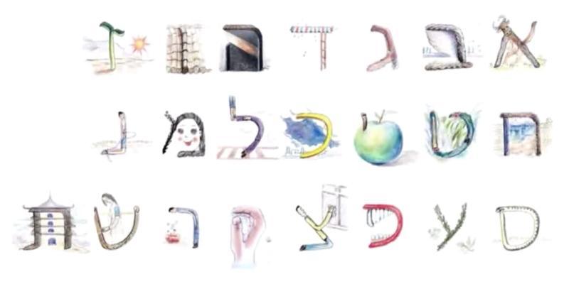 希伯來文字母創意記憶法
