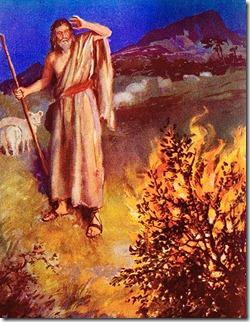 摩西遇荊棘