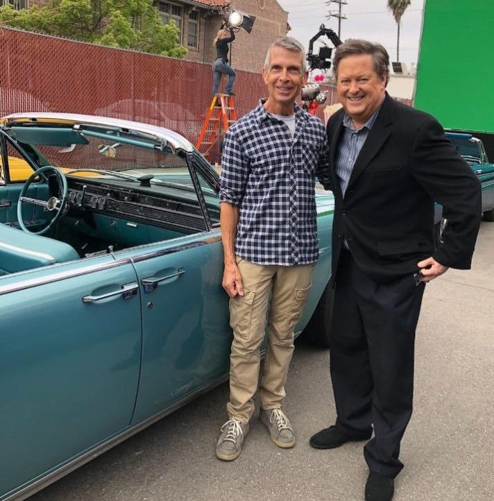 Jim Ayres with Sam Rubin of KTLA TV