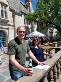 Brian Bernsen and Diana Anast on the front terrace.