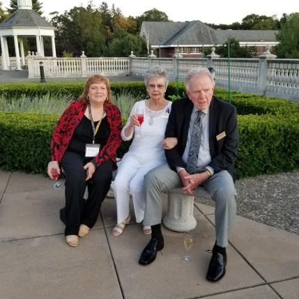 Chris Gray, left, Carol and Jim Higgs.