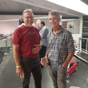 Ron Cressy, and Jim Ayres at Porsche reception