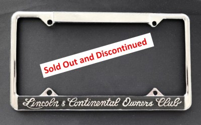 LCOC Discontinues Sales of License Plate Frames