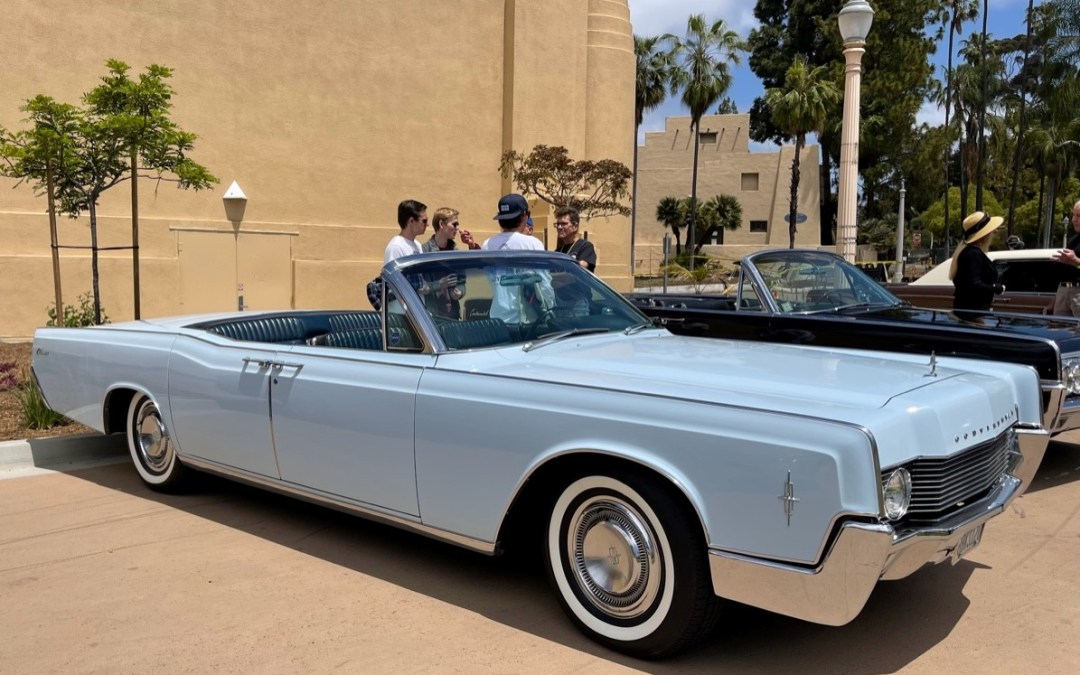 Glorious Sunshine Bathes Lincolns, Cadillacs and their Owners at San Diego Automotive Museum