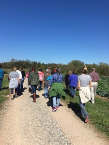 Teachers touring Willowsford Farm.