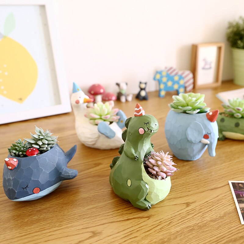 Cute Plant Pot Animal Design Pot Life Changing Products