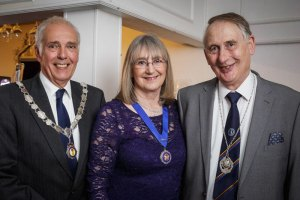 Garth Tighe, Christine Widdall and Gordon Jenkins