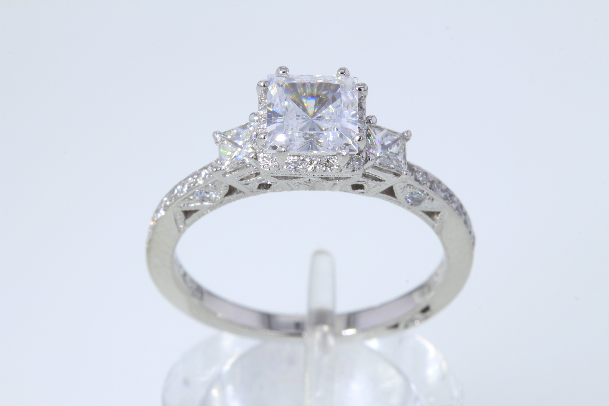 halo ring split products diamond round platinum sapphire shank judith engagement rings