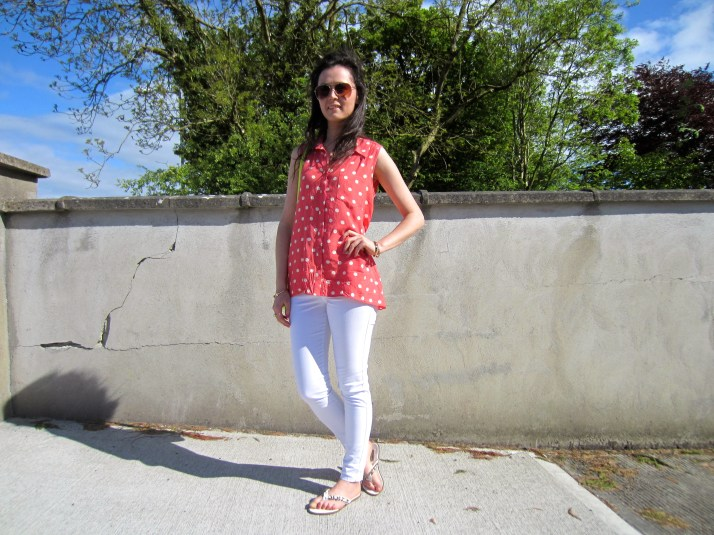 Irish Fashion Orange Polka Dot 19