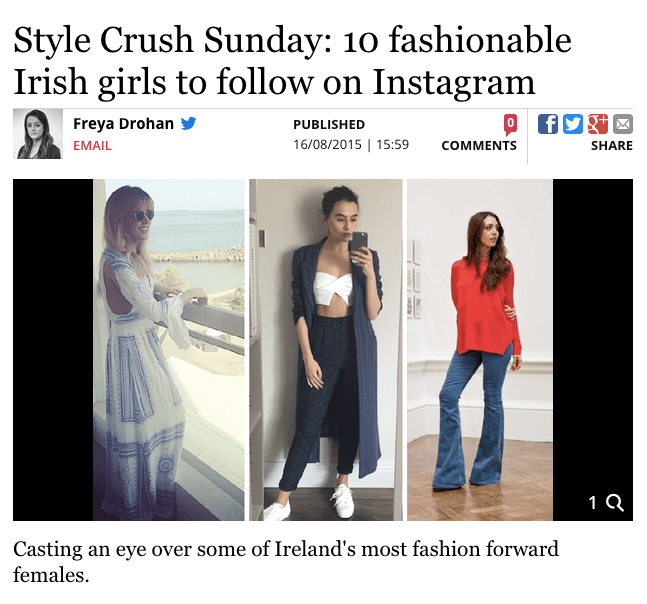 press: stylish irish girls on instagram