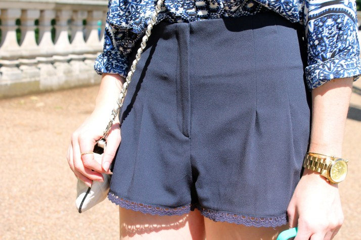Irish Fashion Lace Trim Shorts 9