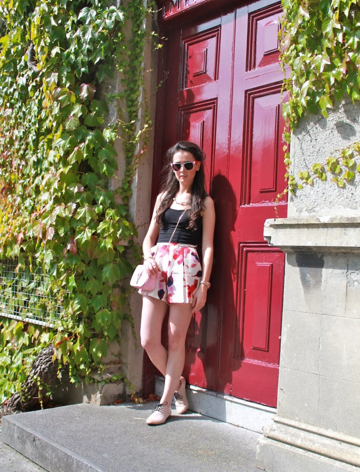 Irish Fashion Flower Print Shorts 10