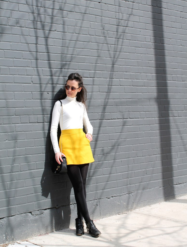 Canary yellow skirt 11