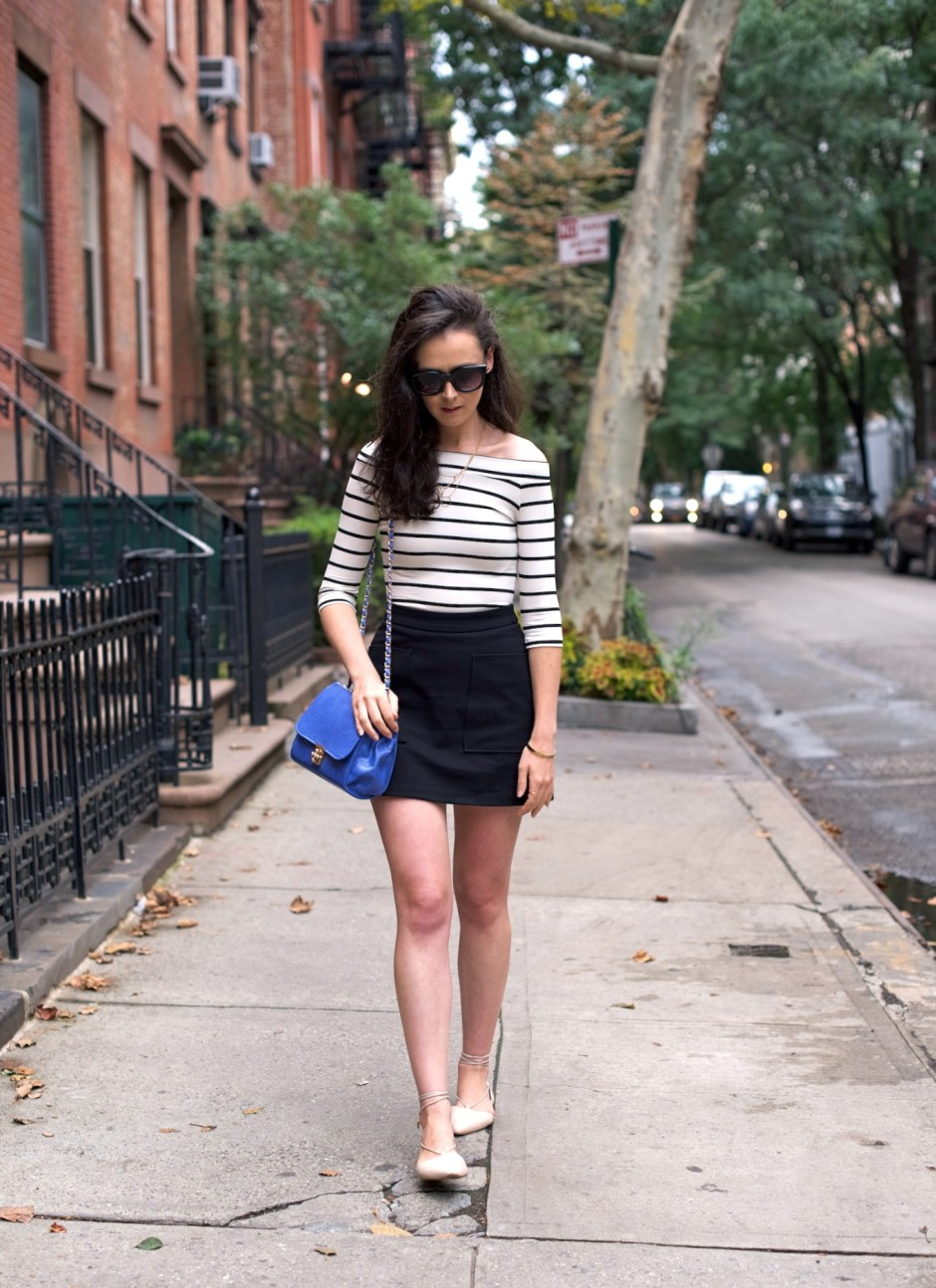 irish fashion: Stripe Top and Lace Up Flats