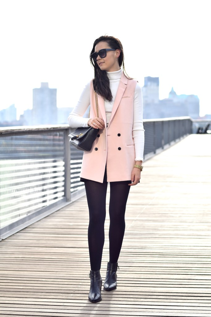 Pink Sleeveless Blazer 2