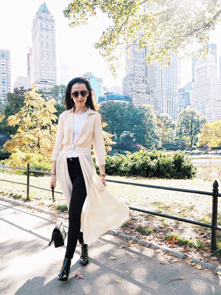 NYC Blogger: maxi shirt