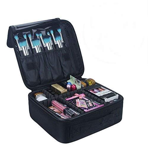 Beauty Case,Vococal-Porta Trucchi Borsa Trucco Professionale Portable Travel Cosmetici Case Sacchetti di Stoccaggio (Nero)