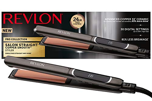 Pro Collection Salon Straight XL Copper di Revlon Piastra per capelli, 25 mm RVST2175