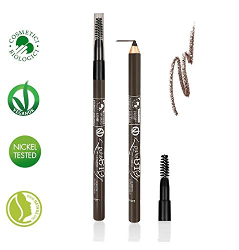 PUROBIO - Eyeliner Matita Occhi e Sopracciglia - 28 Tortora Scuro -Biologico, Vegan, Senza Glutine, Nickel Tested, Made in Italy